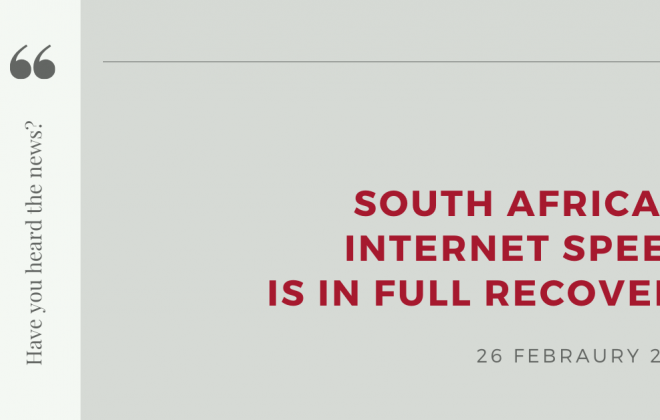 South Africa's internet speed is in full recovery