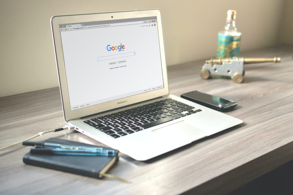 desktop with Google